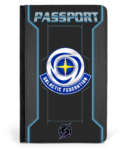 Faux Leather Retro Game Inspired  Metroid Galactic Federation Passport Cover
